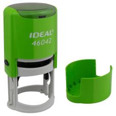 IDEAL 46042 P2 автоматическая оснастка для печати с защитной крышкой (салатовая)