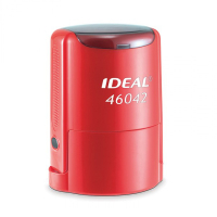 IDEAL 46042 P2 автоматическая оснастка для печати с защитной крышкой (КРАСНАЯ)
