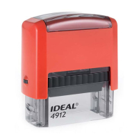 4912 P2 IDEAL  автоматическая оснастка для штампа 47x18 мм (красная)