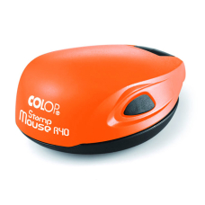 Colop Stamp Mouse R40 orange neon (оранжевый неон) карманная оснастка для печати D 40 мм.