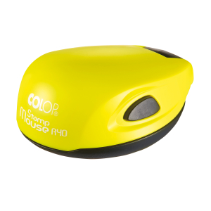 Colop Stamp Mouse R40 yellow neon (желтый неон) карманная оснастка для печати D 40 мм.