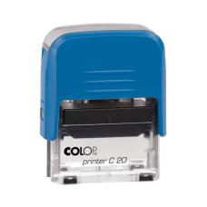 Colop Printer C20 Compact Transparent автоматическая оснастка для штампа 38x14 мм (синяя)