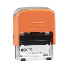 Colop Printer C20 Compact Transparent автоматическая оснастка для штампа 38x14 мм (оранжевая)
