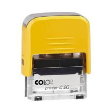Colop Printer C20 Compact Transparent автоматическая оснастка для штампа 38x14 мм (желтая)