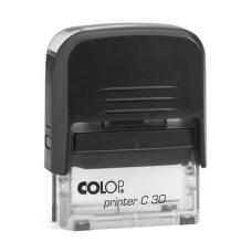 Colop Printer C30 Compact Transparent автоматическая оснастка для штампа 47x18 мм (черная)