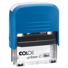 Colop Printer C30 Compact Transparent автоматическая оснастка для штампа 47x18 мм (синяя)