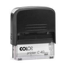 Colop Printer C40 Compact Transparent автоматическая оснастка для штампа 59x23 мм (черная)