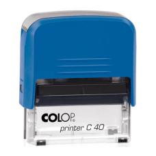 Colop Printer C40 Compact Transparent автоматическая оснастка для штампа 59x23 мм (синяя)