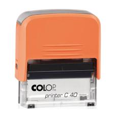 Colop Printer C40 Compact Transparent автоматическая оснастка для штампа 59x23 мм (оранжевая)