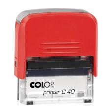 Colop Printer C40 Compact Transparent автоматическая оснастка для штампа 59x23 мм (красная)