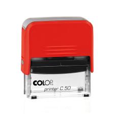Colop Printer C50 Compact Transparent автоматическая оснастка для штампа 69x30 мм (красная)