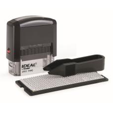 Ideal 4911/DB TYPO РУС Самонаборный штамп, корпус черный