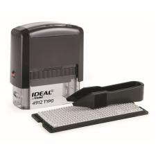 Ideal 4912/DB TYPO РУС Самонаборный штамп, корпус черный