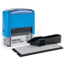 Ideal 4912/DB TYPO РУС Самонаборный штамп, корпус синий