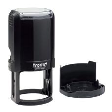 Trodat 4645 автоматическая оснастка для печати d45 мм с защитной крышкой (черный).