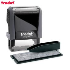 Trodat Printy 4911 P4 TYPO РУС Самонаборный штамп 3 строки (серый)