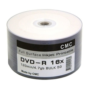 Диски (болванки) CMC DVD-R 4,7Gb 16x Printable bulk 50