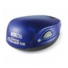 Colop Stamp Mouse R30 indigo (индиго) карманная оснастка для печати D 30 мм.