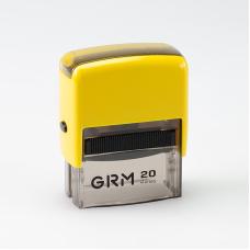 GRM 20 Office. Автоматическая оснастка для штампа 38x14мм, корпус ЖЕЛТЫЙ
