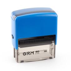 GRM 40 Office. Автоматическая оснастка для штампа 59x23 мм, корпус СИНИЙ.