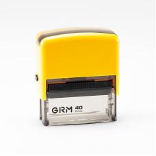 GRM 40 Office. Автоматическая оснастка для штампа 59x23 мм, корпус ЖЕЛТЫЙ.