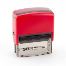 GRM 40 Office. Автоматическая оснастка для штампа 59x23 мм, корпус КРАСНЫЙ.