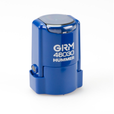 GRM 46030 Hummer автоматическая оснастка для круглой печати d30 мм с защитной крышкой (синяя).