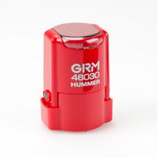 GRM 46030 Hummer автоматическая оснастка для круглой печати d30 мм с защитной крышкой (красная).