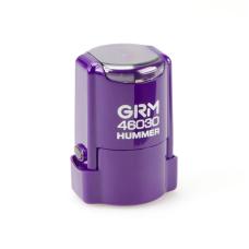 GRM 46030 Hummer автоматическая оснастка для круглой печати d30 мм с защитной крышкой (фиолетовая).