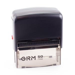 GRM 50 Office. Автоматическая оснастка для штампа 69x30 мм, корпус ЧЕРНЫЙ.