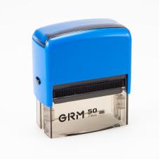 GRM 50 Office. Автоматическая оснастка для штампа 69x30 мм, корпус СИНИЙ.