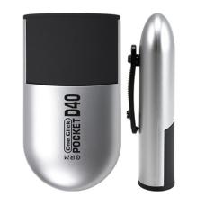 GRM Pocket R40 ONE CLICK Карманная оснастка для печати (СЕРЕБРЯНЫЙ корпус)