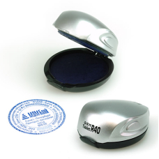 GRM Tablet R40 карманная оснастка для печати с подушкой д.40 мм серебро